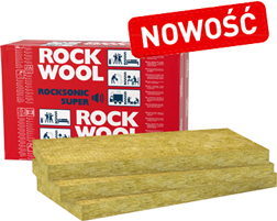 Wełna do poddaszy ROCKWOOL ROCKSONIC SUPER 50/610/1000 mm (9,15 m2)