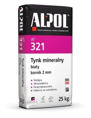Tynk mineralny ALPOL AT321 (KOR) 2,0 mm 25 kg